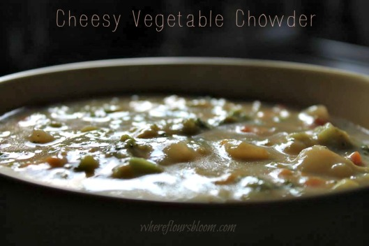 Cheesy Vegetable Chowder wfb