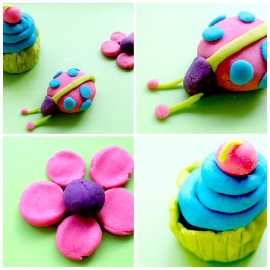 play dough collage